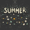 Unique lettering poster with word Summer.