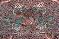 modern batik fabric Royalty Free Stock Photo