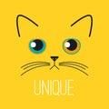 Unique sad kitten Royalty Free Stock Photo