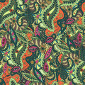 Unique seamless pattern with eyes and strange plants eps Stock Photos