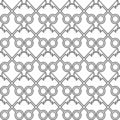 Unique seamless pattern, made from keys