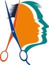 Unisex beautician logo Royalty Free Stock Photo