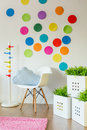 Unisex child's room Royalty Free Stock Photo