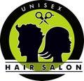 Unisex Hair Salon Logo Royalty Free Stock Photo