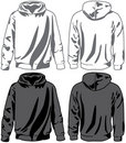 Unisex hoodies. Vector Stock Photography