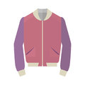 Unisex Sport Jacket Flat Style Vector Illustration