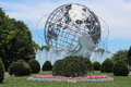 The unisphere commissioned to celebrate beginning of space age was conceived and constructed as theme symbol of Royalty Free Stock Images