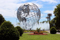 The unisphere commissioned to celebrate beginning of space age was conceived and constructed as theme symbol of Royalty Free Stock Photo