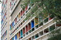 The Unite d'Habitation Corbusier in French city Marseille Royalty Free Stock Photo