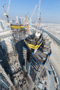 United arab emirates dubai damac towers dubai by paramount construction and building ariel views with cityscape background Royalty Free Stock Photos