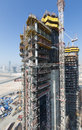 United arab emirates dubai damac towers dubai by paramount construction and building ariel views with cityscape background Royalty Free Stock Photo