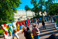 United buddy bears exhibit in downtown saint petersburg russia in june Royalty Free Stock Images