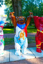 United buddy bears exhibit in downtown saint petersburg russia in june Stock Photography