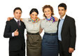 United group of cheerful people Royalty Free Stock Photo