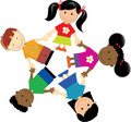 Racism united kids social community kids of various nationalities Royalty Free Stock Photo