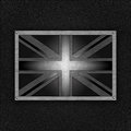 United kingdom badge on leather Stock Photography