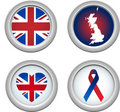 United Kingdom Buttons Royalty Free Stock Photo