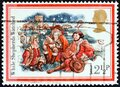 UNITED KINGDOM - CIRCA 1982: A stamp printed in United Kingdom shows While Shepherds Watched, circa 1982.