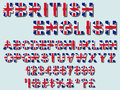 United Kingdom flag font Royalty Free Stock Photo