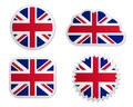 United Kingdom flag labels Royalty Free Stock Photo