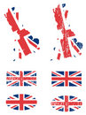 United Kingdom flag set Royalty Free Stock Photos