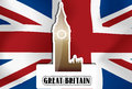 United Kingdom, Great Britain, illustration Royalty Free Stock Photos