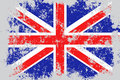 United Kingdom, Great Britain, UK, GB grunge, old, scratched style flag