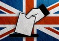 United Kingdom hand vote, referendum flag metal vintage