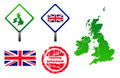United Kingdom icons set Stock Photos