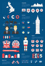 United kingdom infographic set Royalty Free Stock Photo