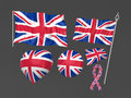 United Kingdom, London flag national symbolic Stock Photography