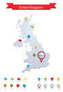 United Kingdom Map Stock Images