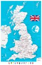 United Kingdom Map and Flat Map Pointers