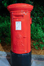 United kingdom red post box traditional redmailbox england Royalty Free Stock Photography