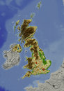 United Kingdom, relief map Royalty Free Stock Photos