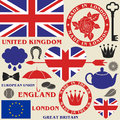 United kingdom set isolated objects vector illustration eps Royalty Free Stock Photography