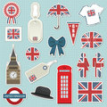 United kingdom stickers Stock Photography
