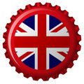 United kingdom stylized flag on bottle cap Royalty Free Stock Image