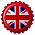 United kingdom stylized flag on bottle cap Royalty Free Stock Photo