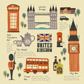 United Kingdom travel concept collection Royalty Free Stock Photo