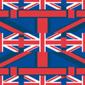 United Kingdom Union Jack horizontal seamless pattern Royalty Free Stock Photo