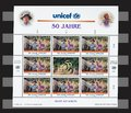 United nation unicef years stamps sheet of hansel and gretel the nations childrens fund stamp value Royalty Free Stock Photo