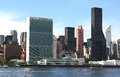 United nations headquarters nyc view of the in from across the east river Royalty Free Stock Photo