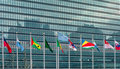 United Nations Flags New York USA Royalty Free Stock Photo