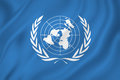 United nations un flag backgound Stock Photo