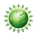 United people around the world Royalty Free Stock Photo