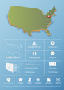 United State of America  map and travel Infographic template design. Royalty Free Stock Photo