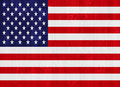 United states of america flag gorgeous painted on a wood plank texture Royalty Free Stock Photo