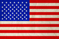 United states of america flag on old vintage paper independence day Royalty Free Stock Photos
