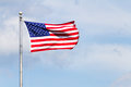 United States of America Flag on a Pole Royalty Free Stock Photo